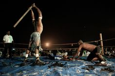 """""""In a fetish match, Loboko versus Django, they use planks and chains as weapons. The outcome of the fight is always more or less fixed, but there's always some improvisation during the match."""""""