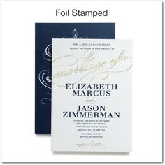 Modish Marriage - Signature Foil Wedding Invitations - East Six Design - Black : Front