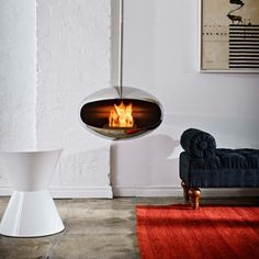 Cocoon Fires  Sleek Fireplace Designs