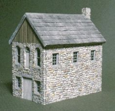 JP- HO/HOn3 C.C. CROW THE STONE SHINGLE MILL CRAFTSMAN STRUCTURE KIT #CCCROW