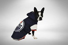 Protect Me Alerts NHL Edmonton Oilers Varsity Dog Jacket, Medium Varsity Jackets, Dog Safety, Edmonton Oilers, Dog Wear, Hockey Teams, Nhl, Best Dogs, Boston Terrier, Pets