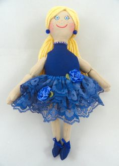 Blonde Ballerina Doll in Blue Tutu by JoellesDolls on Etsy