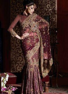 desi fashion police: persian inspired saree collection