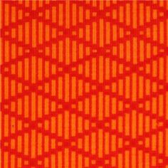 orange diamond pattern Michael Miller interlock fabric