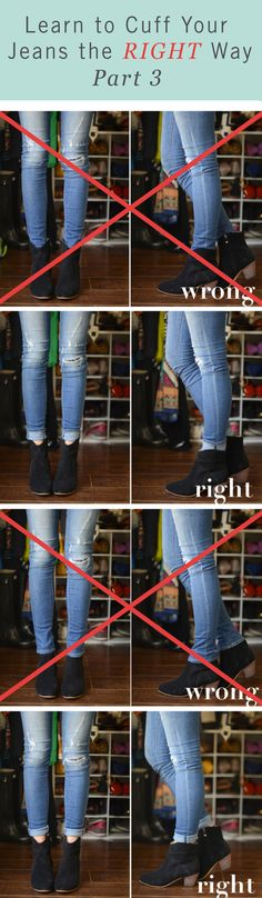 From flats, sneakers, and ankle boots, jeans are perfect to wear with nearly any shoe! Make sure to get the look you want by knowing the correct way to cuff your jeans. Check out our styling guide!