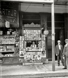 "1908. ""Smallest news & post card stand in New Orleans, 103 Royal Street."" Shorpy Historical Photo Archive :: Mr. Magazine: 1908"