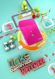 TINKE by CRITICA , via Behance #3D #design #poster Siguenos en Facebook https://www.facebook.com/pages/EXPONLINE/141220162699654