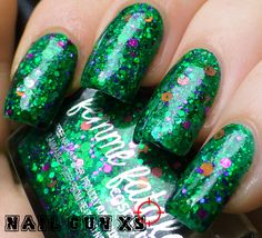 """love this, I am a sucker for green :) this is Femme Fatale """"Noble Garden"""" shown here by the lovely NailGunxs.com"""
