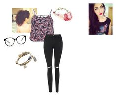 """""""with andrea russet"""" by sweetswagger ❤ liked on Polyvore featuring Bando, maurices, Topshop and Mudd"""
