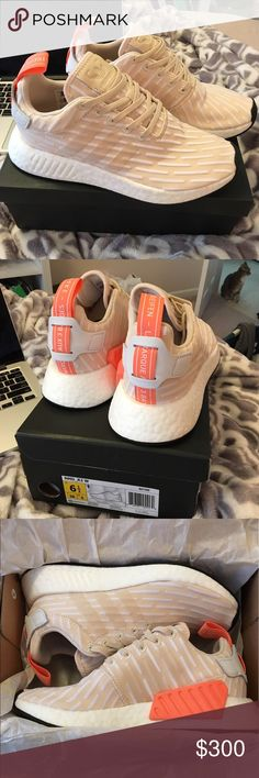 Adidas NMD_R2 - SIZE 6.5 - Women's - NWT Brand New Adidas NMD's - Size 6.5 Women's - Color: Linen / Linen / Running White - These would fit a normal size 7, they run a half size big. Adidas Shoes Athletic Shoes