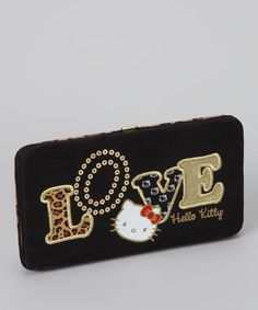 Take a look at this Hello Kitty Black 'Love' Wallet by Hello Kitty on #zulily today!