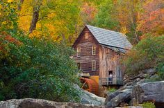 Glade Creek Grist Mill located in Babcock State Park in southern West Virginia.
