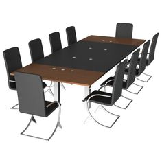 Holder Conference Table Post-Base Client Chairs Socket-Accessory - 06030703 3D Model Download | fbx obj max lxo lwo dae dxf - 3D Squirrel