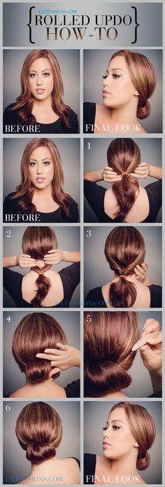 12 Trendy Low Bun Updo Hairstyles Tutorials: Easy Cute