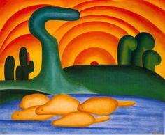 'Sol Poente', de Tarsila do Amaral. (Foto: Reprodução)