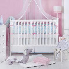 Adorable girl's crib bedding - organic too!