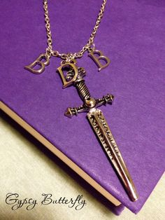 Black Dagger Brotherhood inspired necklace