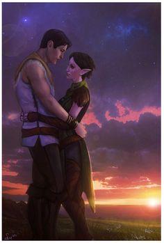 Carver and Merrill Dragon Age http://smilika.deviantart.com/art/Violet-dreams-453410862