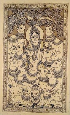 Indian Painting Styles...Kalamkari Paintings (Andhra Pradesh)-2krishna.jpg