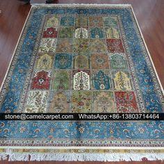 1.8mx2.5m silk rugs,100% handmade,Turkey design