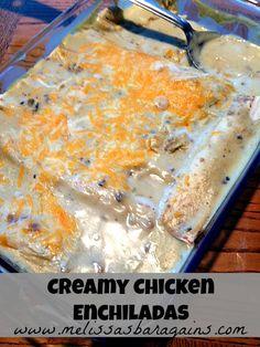 #Kid friendly, creamy chicken enchiladas recipe