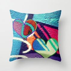 This is a favourite at LeonLionDecor on Etsy, the Graffiti pillows store on Etsy (Main store is LeonLionStudio Love these new graffiti style pillows ! Graffiti Styles, Funky Art, Modern Art, I Shop, Pillow Covers, Throw Pillows, Unique Jewelry, Handmade Gifts, Hearts
