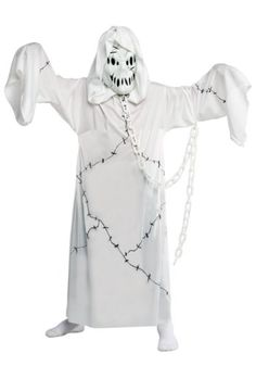 Give your child a chance to do some scaring this Halloween when he wears this Kids Ghost Costume. He& love being this spooky spectre! Costume Garçon, Joker Costume, Ghost Costumes, White Costumes, Movie Costumes, Costume Ideas, Costumes Kids, Halloween Season, Ghosts