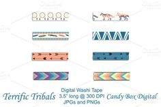 Check out Tribal Native Digital Washi Tape by candyboxdigital on Creative Market
