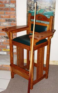 Billiard Spectator Chair  Projects to Try  Game room