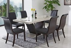 Contemporary modern kitchen table and chairs sets