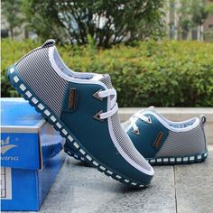 Spring breathable doug men loafers casual shoes increased within flats the British fashion lace up shoes