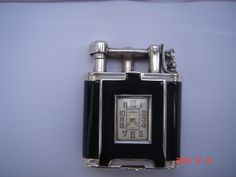 asprey Dunhill watch solid silver lighter