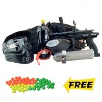 09 Spyder Victor Paintball Gun Marker MEGA Set - Black