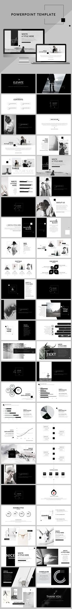 Black & White - Creative clean Powerpoint Presentation Template. Download here: https://graphicriver.net/item/black-white-creative-clean-powerpoint-presentation/16990669?ref=ksioks                                                                                                                                                                                 Más