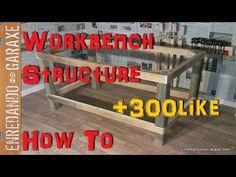 Cómo hacer una estructura de mesa resistente para hacer una mesa de trabajo muy estable para el taller de carpintería casero. Just Do It, Diy, Woodworking, Youtube, Videos, Home Decor, Workbench Plans, How To Make, Decoration Home