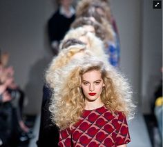 Runway hair: Marc Jacobs Fall 2013...Glad to see big is back.