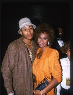 Whitney Houston with LL Cool J: Famous music artists from the & Whitney Houston, Beverly Hills, Hip Hop And R&b, Hip Hop Rap, Aaliyah, Black Celebrities, Celebs, Black Is Beautiful, Beautiful People