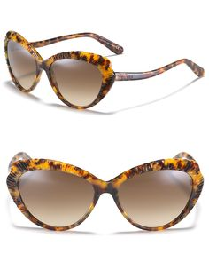 Alexander McQueen Ridged Cat Eye Sunglasses | Bloomingdale's
