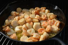 Garlic and Butter Grilled Scallops & Shrimp - The Cookin Chicks Fish Recipes, Seafood Recipes, Dinner Recipes, Cooking Recipes, Healthy Recipes, Dinner Ideas, Seafood Meals, Recipies, Delicious Recipes