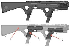 Nedg Double Glock carbine conversion design http://ammocollector.blogspot.com/ Find our speedloader now!  www.raeind.com  or  http://www.amazon.com/shops/raeind