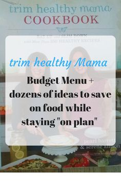 Looking for a Trim Healthy Mama Budget Menu to help keep your food costs down? Real food costs more than junky carbs, but there are ways to stay on budget. Healthy Diet Tips, Healthy Recipes On A Budget, Thm Recipes, Healthy Foods To Eat, Healthy Eating, Healthy Lifestyle, Healthy Desserts, Dinner Recipes, Budget Meal Planning