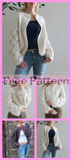 This Crochet Unique Cardigan is very pretty, it will be a great project that you could work on. Crochet Bodycon Dresses, Black Crochet Dress, Crochet Coat, Crochet Jacket, Crochet Cardigan, Crochet Scarves, Crochet Shawl, Crochet Clothes, Crochet Sweaters