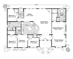 Below are some reference floor plan for the modular home, we can adjust the plan if you have any requirement. Modular homes plans guide you build house. Floor Plan 4 Bedroom, Bedroom House Plans, Dream House Plans, House Floor Plans, My Dream Home, Modular Home Floor Plans, Plans Architecture, Palm Harbor Homes, Barndominium