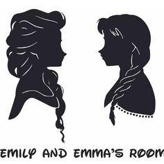 Frozen Silhouette, Princess Silhouette, Girl Silhouette, Disney Fun, Disney Frozen, Vinyl Decals, Wall Decals, Sticker, Frozen Cricut