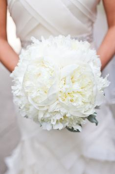 Beautiful white bouquet with open peonies!!
