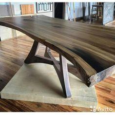 Стол обеденный из слэба карагача— фотография №1