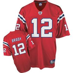 d4dada363 New England Patriots 12 Tom Brady Throwback Red 2012 Super Bowl Jersey