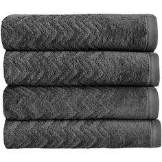 Christy Chevron Towel - Graphite - Hand Towel ($17) ❤ liked on Polyvore featuring home, bed & bath, bath, bath towels, grey, grey hand towels, patterned hand towels, grey bath towels, patterned bath towels and christy bath towels