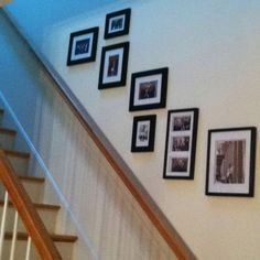 Staircase picture frames