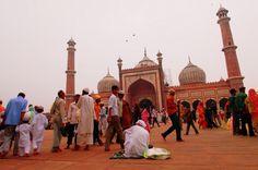 OLD DELHI, India - Friday prayers at Jama Masjid.